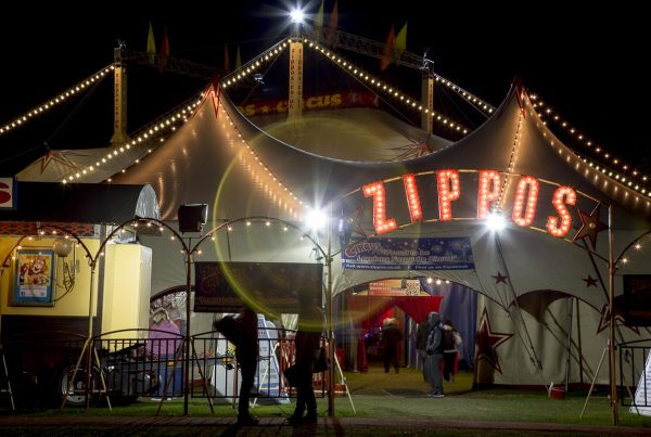 Zippos Circus - Circus Tent At Night, Twickenham Green - September 16, 2013
