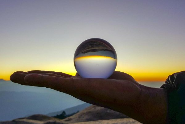 Nepal Sailung - Sunrise through a lensball from Sailung Peak
